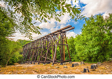 Athens Georgia Train Trestle - Athens, Georgia, USA...