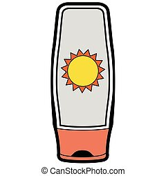 Isolated sunscreen icon on a white background, Vector...