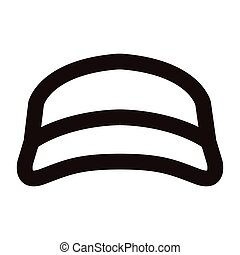 Isolated beach hat outline - Isolated outline of a beach...