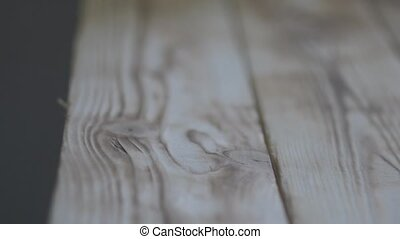 Wooden Floor or table. slider movement video. soft focus