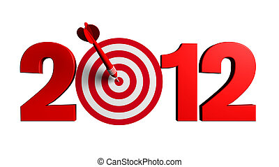 2012 New Year Target - Next New Year 2012 whit a red and...