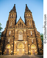 Basilica of Saint Peter and Paul in Vysehrad complex,...