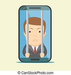 Vector crime and punishment law and order social flat icons...