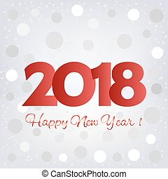 2018 Happy New Year background. Pattern element for cover,...
