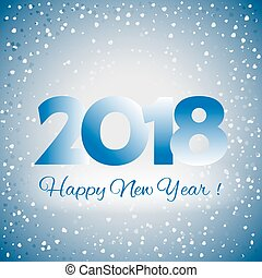 2018 Happy New Year background - 2018 Happy New Year blue...