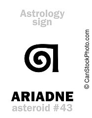 Astrology: asteroid ARIADNE - Astrology Alphabet: ARIADNE,...