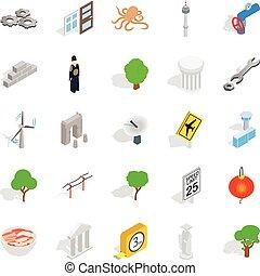 Verge icons set, isometric style - Verge icons set....