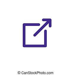 External Link Icon with arrow and box pointing - Ancestry or...