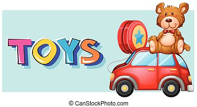 Poster design for toys illustration