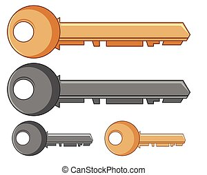 Silver and golden keys
