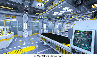 Research institute - 3D CG rendering of the research...
