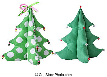 Toy a fur-tree - The toy in style a tilde on a white...