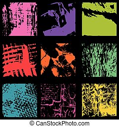 Colored ink spots Graffiti collection