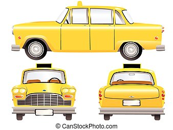 Yellow taxi cabs.eps