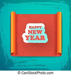 New Year Greeting Card - New year card with greeting on...