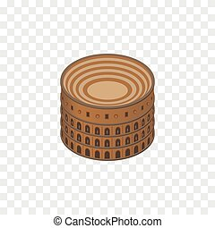 Isolated Colosseum Isometric. Coliseum Vector Element Can Be Used For Colosseum, Rome, Coliseum Design Concept.