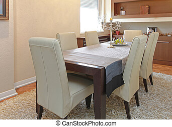 Dining Table For Six in Contemporary Apartment