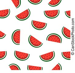Slice watermelon seamless background isolated
