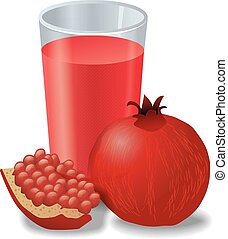 fresh pomegranates juice