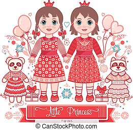 Happy birthday - greetings card for girl.