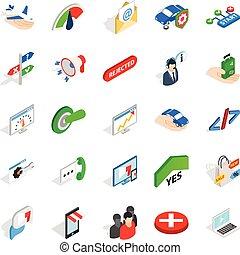 Manpower icons set, isometric style - Manpower icons set....
