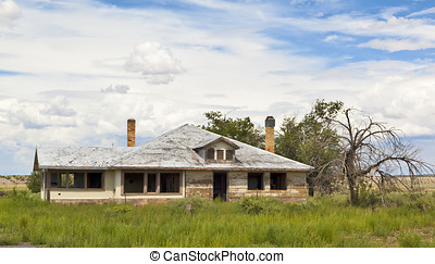 Ghostly Home of Route 66 - The ghostly remains of an...