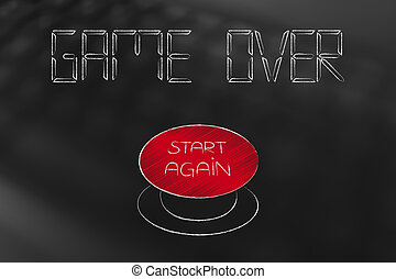 game over text with start over button - game over text in...