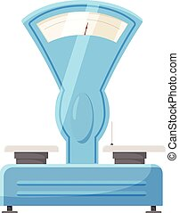 Old scales icon, cartoon style