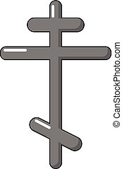 Orthodox cross icon, cartoon style - Orthodox cross icon....