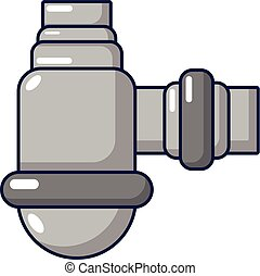 Water sewer sump icon, cartoon style - Water sewer sump...