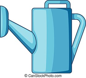 Watering can icon, cartoon style