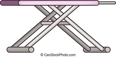Ironing board icon, cartoon style - Ironing board icon....
