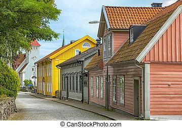 Kungalv Landscape Street Scene - Street scene from the...