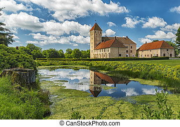 Tosterup Castle in Sweden - Image of Tosterup medieval...