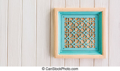 Beautiful air ventilizer system with pastel wooden frame