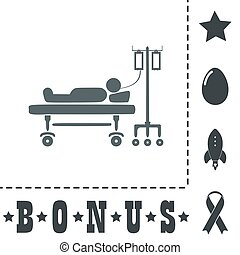 Illustration of Life icons, hospitalized - Life...