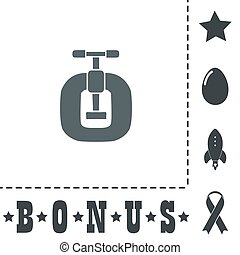 Bench vices flat icon - Bench vices. Simple flat symbol icon...