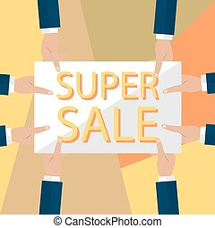 Summer sale banner design for promotion with shopping icons