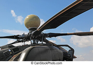 russian attack helicopter Mi 28 is equipped with a radar of...