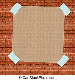 brown paper sign