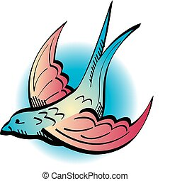 Tattoo Design Swallow Clip Art