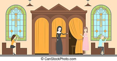 Confessional at church.