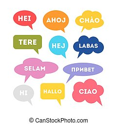 Hello in different languages.