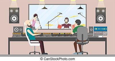 Music recording studio.