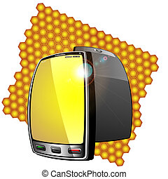 Cellular communication - Modern mobile phone is located on...