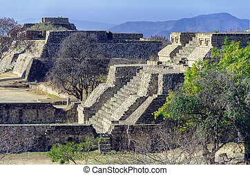 The West Side Platform at the Monte Alban Pyramid Complex in...