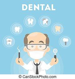Dentist concept illustration.