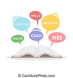 Learning languages concept.