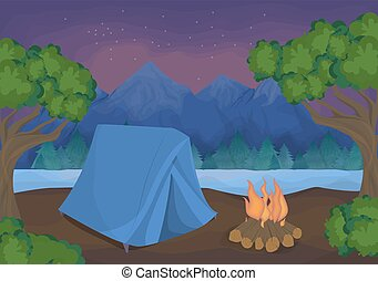 Camping in the nature.