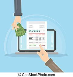 Billing Vs Invoicing Word Vector Of Payroll Invoice Concept  Payroll Concept Payroll  Definition Of Invoicing with Apple Invoice Software Invoice Concept Illustration Receipt Books Walmart Word
